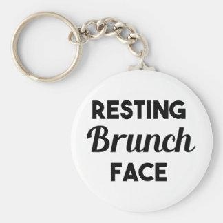 Resting Brunch Face Keychain