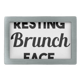 Resting Brunch Face Rectangular Belt Buckle