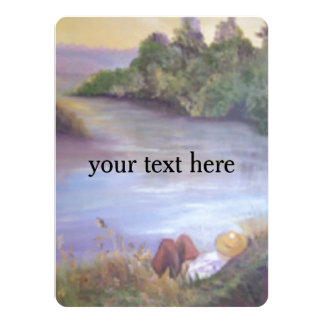 Resting by the river card