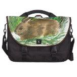 Resting Cottontail - watercolor Laptop Messenger Bag