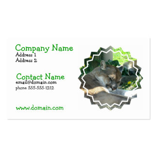 Resting Cougar Busines Card Double-Sided Standard Business Cards (Pack Of 100)