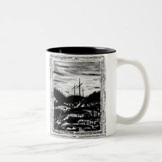 Resting Cross Two-Tone Coffee Mug