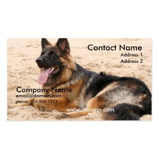 Resting German Shepherd Business Card