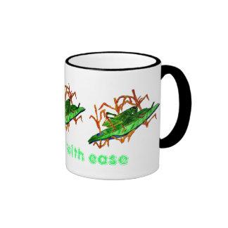 Resting Grasshopper Ringer Coffee Mug