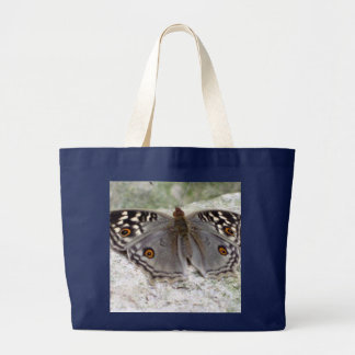 Resting Grey Butterfly Photo Image Jumbo Tote Bag
