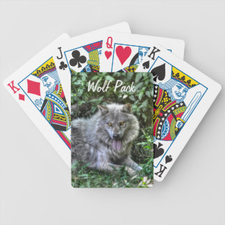 Resting Grey Wolf 3 Wildlife Gift Bicycle Playing Cards