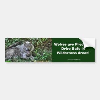 Resting Grey Wolf 3 Wildlife Gift Bumper Sticker