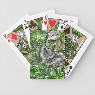 Resting Grey Wolf 4 Wildlife Gift Bicycle Playing Cards