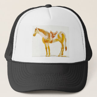 resting horse trucker hat