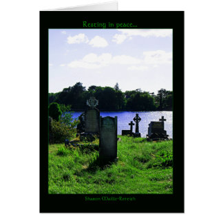 Resting in peace Greeting Cards