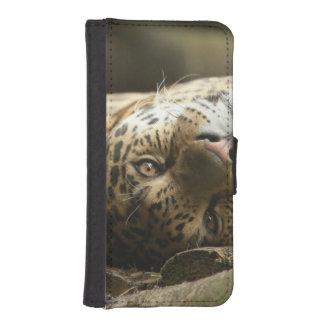 Resting Jaguar Wallet Phone Case For iPhone SE/5/5s