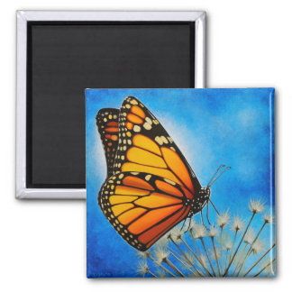 Resting Monarch magnet