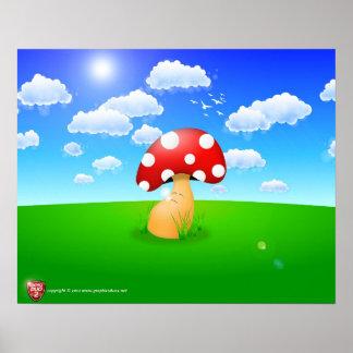 Resting Mushroom Poster