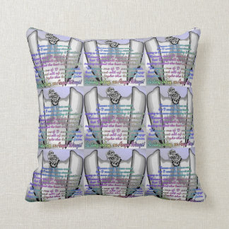 Resting On Angel Wings Throw Pillow