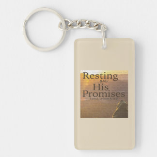 Resting on His Promises Key Chain