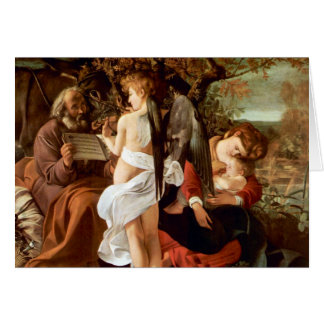 Resting on the Flight into Egypt by Caravaggio Card