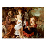Resting on the Flight into Egypt by Caravaggio Postcard