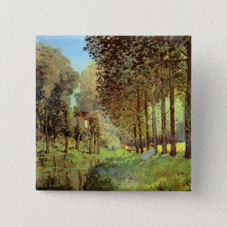 Resting on the river bank by Alfred Sisley Button