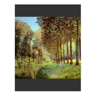 Resting on the river bank by Alfred Sisley Postcard