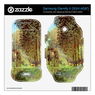 Resting on the river bank by Alfred Sisley Samsung Eternity II Skins