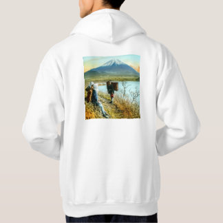Resting on the Roadside to Mt. Fuji Vintage Hoodie