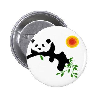 Resting Panda. 2 Inch Round Button