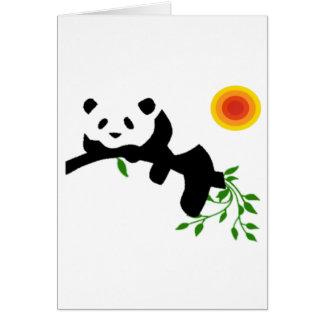 Resting Panda. Card