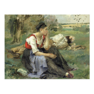 Resting Peasants, 1877 Post Cards