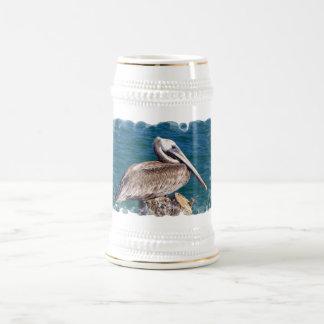 Resting Pelican Beer Stein 18 Oz Beer Stein