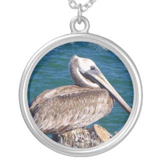 Resting Pelican Necklace
