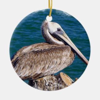 Resting Pelican Ornament