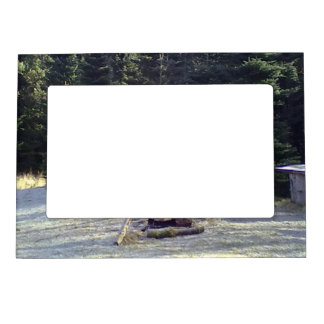 Resting place in the forest magnetic picture frames