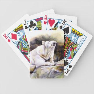 Resting Polar Bear Playing Cards