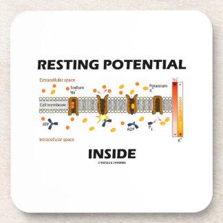 Resting Potential Inside (Na-K Active Transport) Beverage Coasters