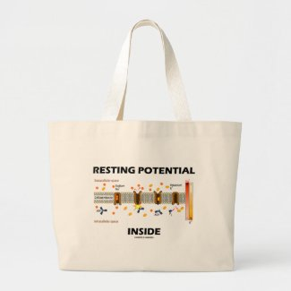Resting Potential Inside (Sodium-Potassium Pump) Tote Bags