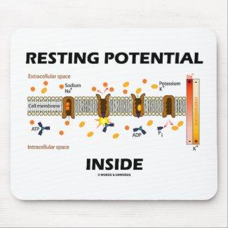 Resting Potential Inside (Sodium-Potassium Pump) Mousepads