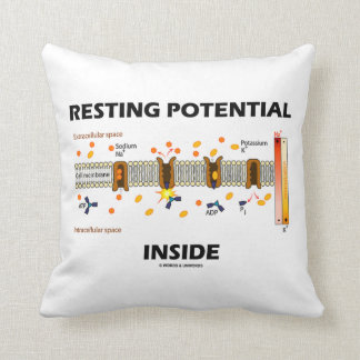 Resting Potential Inside (Sodium-Potassium Pump) Throw Pillow
