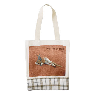 Resting Red Kangaroo Buck Zazzle HEART Tote Bag