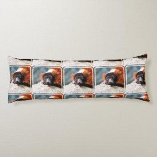 Resting Red Ruffed Lemur Body Pillow