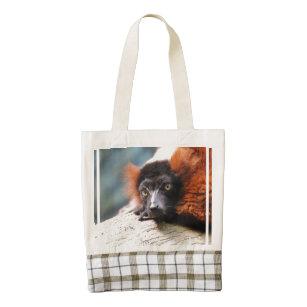d86fce2940ba Resting Red Ruffed Lemur Zazzle HEART Tote Bag