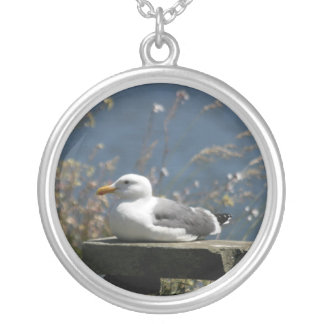 Resting Seagull necklace