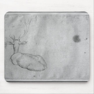 Resting stag mouse pad