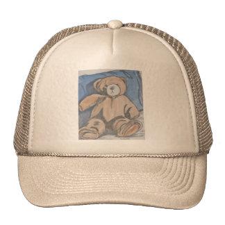 Resting teddy bear trucker hat