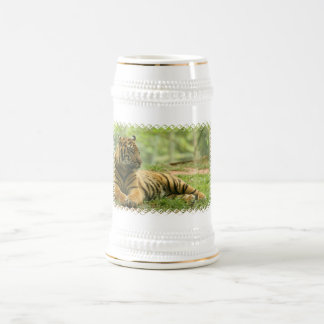 Resting Tiger  Beer Stein Coffee Mug