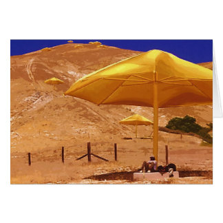 Resting under an Umbrella Card