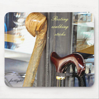 Resting walking sticks mouse pad