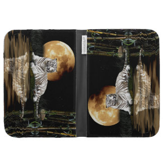 Resting White Tiger & Moon Big Cat Wildlife Cases For The Kindle