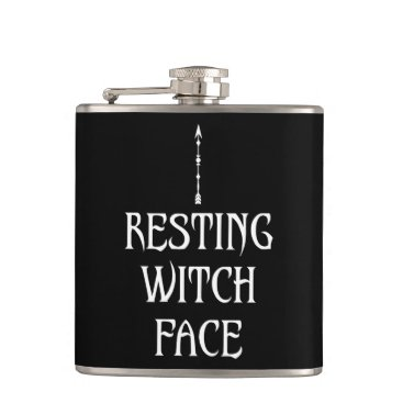 Halloween Themed Resting Witch Face Flask