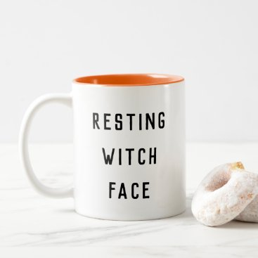 Halloween Themed Resting Witch Face Halloween Two-Tone Coffee Mug