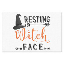 resting witch face tissue paper